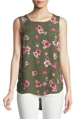 Dorothy Perkins Sleeveless Floral Hi-Lo Blouse