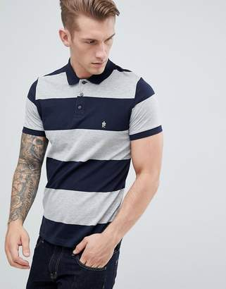 French Connection Wide Stripe Polo Shirt