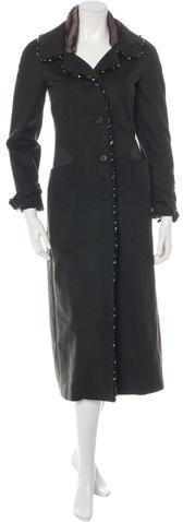 pradaPrada Embellished Wool Coat
