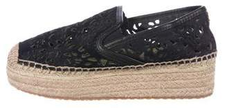 Tory Burch Ponyhair Laser Cut Platforms