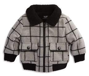 Bardot Boys' Plaid #Squad Sherpa Bomber Jacket - Baby