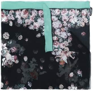 Dolce & Gabbana floral cherub print scarf