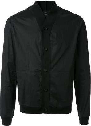Emporio Armani shawl collar shirt-jacket