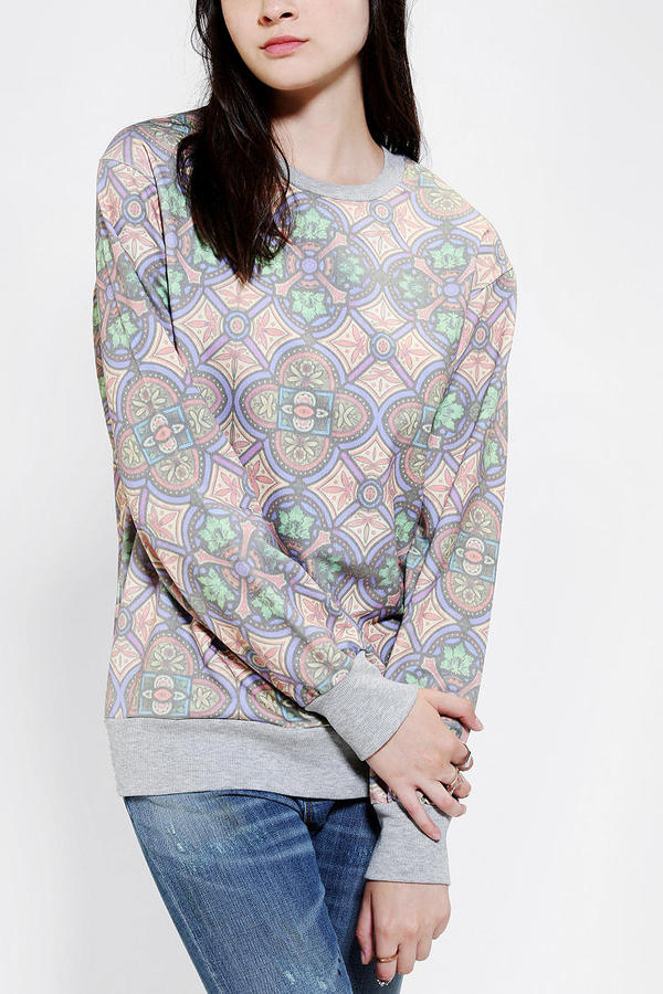 Urban Outfitters Blackstone Stained Glass Pullover Sweatshirt
