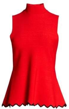 Proenza Schouler Knit Sleeveless Peplum Top