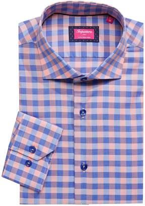 Impuntura Slim-Fit Checkered Dress Shirt