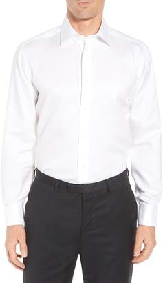 David Donahue Horizontal Twill Regular Fit Tuxedo Shirt