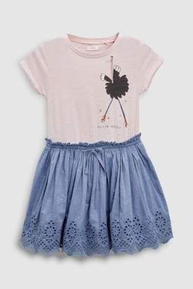 Next Girls Pink Ostrich Dress And Leggings Set (3-16yrs)