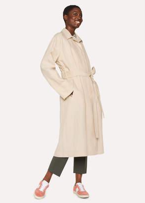 Paul Smith Women's Beige Linen Trench Coat