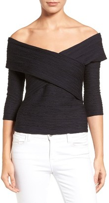 Women's Chelsea28 Crossover Stripe Top $49 thestylecure.com