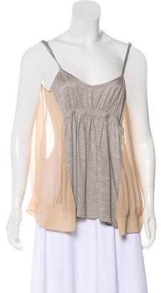 Thakoon Sleeveless Silk-Accented Top