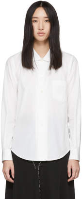 Comme des Garcons White Side Ruffle Shirt