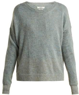 Isabel Marant Ãtoile Atoile - Clifton Mohair Blend Sweater - Womens - Light Blue
