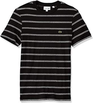 Lacoste Men's Short Sleeve Stripe Cotten/Linen Reg Fit T-Shirt