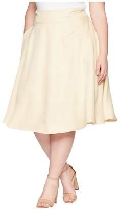Unique Vintage Plus Size Vivien Swing Skirt Women's Skirt