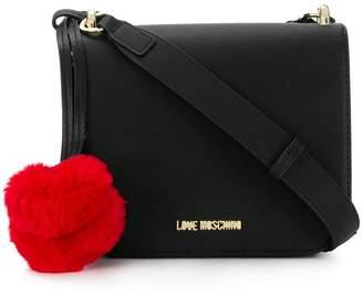 Love Moschino fluffy heart crossbody bag