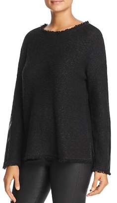 Donna Karan Fringe Trim Sweater