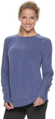 Tek Gear Women's Shirttail Ribbed Long Sleeve Top