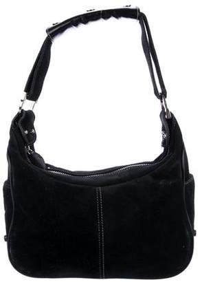 Tod's Suede Leather-Trimmed Shoulder Bag