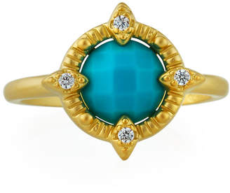 Freida Rothman Amazonian Allure Single-Stone Cocktail Ring, Size 8