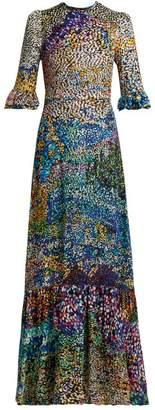 Mary Katrantzou Mount Millais Silk Blend Devore Gown - Womens - Multi