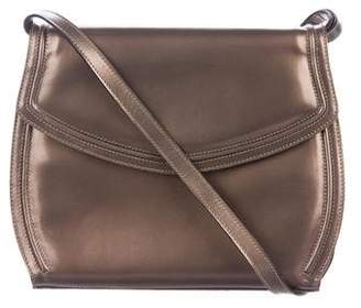 Salvatore Ferragamo Metallic Leather Crossbody Bag