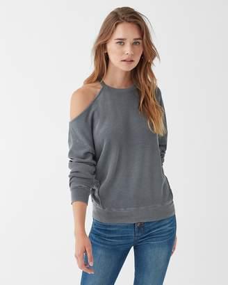 Splendid Vintage Thermal Cold Shoulder Sweatshirt
