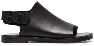 Ann Demeulemeester black 15 classic buckle leather sandals