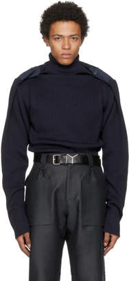 Y/Project Navy Extra High Turtleneck