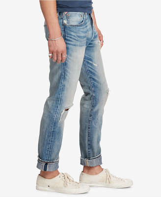 Denim & Supply Ralph Lauren Men's Bedford Ripped Straight Jeans $125 thestylecure.com