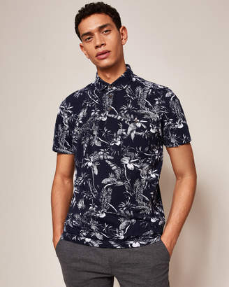 Ted Baker BETHOVN Printed cotton-blend polo