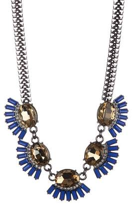 Sterling Forever Blue & Champagne CZ Necklace