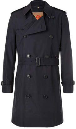 Burberry Kensington Double-Breasted Cotton-Gabardine Trench Coat With Detachable Gilet