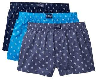 Original Penguin Patterned Woven Boxer - Pack of 3