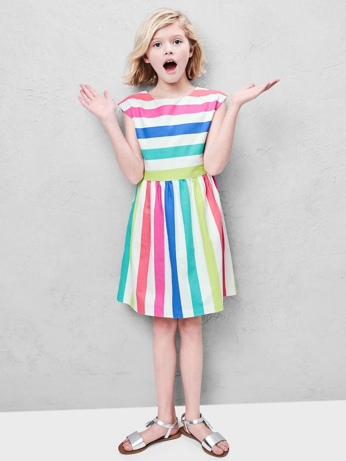 Bold stripe cap dress 6