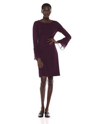 Calvin Klein Women's Sweater Dress with Chiffon Tiered Sleeves