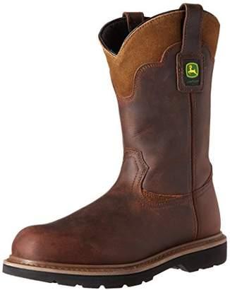 "John Deere Men's JD4348 11"" Pull on Steel Toe Boot"
