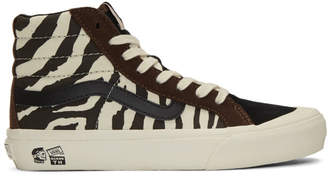 Vans Brown and Off-White Taka Hayashi Edition Style 138 Lx High-Top Sneakers