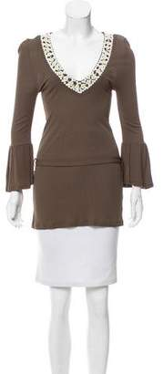 Valentino Embellished Belted Top w/ Tags
