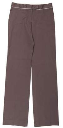 Stella McCartney Mid-Rise Wide-Leg Pants Grey Mid-Rise Wide-Leg Pants