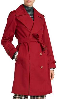 Burberry Crambeck Long Double-Breasted Trench Coat