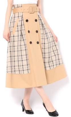 And Couture (アンド クチュール) - アンドクチュール コンビチェックトレンチスカート