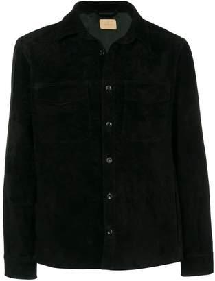 Ajmone buttoned suede jacket