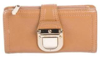 Michael Kors Leather Push-Lock Wallet