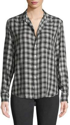 Frank And Eileen Eileen Long-Sleeve Plaid Button-Front Shirt