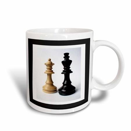 3dRose King n Queen Of Chess, Ceramic Mug, 11-ounce