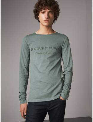 Burberry Long-sleeve Embroidered Cotton Top