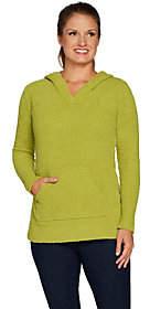 Susan Graver Cozy Knit Long Sleeve HoodedSweater