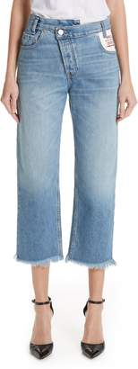 Monse Leather Pocket Jeans