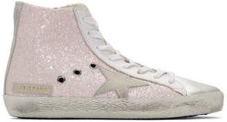 Golden Goose Pink Glitter Francy High-Top Sneakers